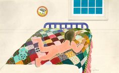 """Ann Jonas, """"That's the shirt I wore on my second birthday,"""" from The Quilt (Greenwillow Books, 1984). Meet Ann Jonas at the Family Quilt Day on May 5 at Katonah Museum of Art, Katonah, NY."""