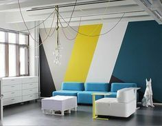 Creating an accent wall can be more than just adding paint color. See five inspiring accent wall ideas that can totally transform any room in your home. Interior Walls, Interior Design, Luxury Interior, Interior Painting, Luxury Furniture, Interior Ideas, Office Walls, Office Decor, Office Wall Design