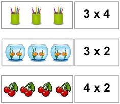 התאמת תרגיל לתמונה 3rd Grade Math, Multiplication, Teaching Resources, Education, Maths, Schools, Ideas, Literacy Activities, Frases