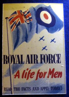 Join the RAF - wartime advertisement