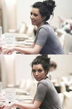 i love this look, so cute and simple and pretty Kim kardashian