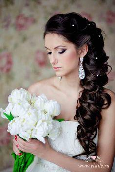 Trendy wedding hairstyles princess updo half up Wedding Hairstyles Half Up Half Down, Best Wedding Hairstyles, Bridal Hairstyles, Bridal Updo, Elegant Wedding Hair, Wedding Hair Down, Trendy Wedding, Wedding Bride, Pirate Wedding