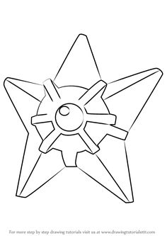 Staryu is a golden-brown sea star character from Pokemon. In this tutorial, we will draw Staryu from Pokemon. Pokemon Pokemon, Cute Pokemon, Learn Drawing, Learn To Draw, Coloring Books, Coloring Pages, Star Character, Drawing Tutorials, Pictures To Draw