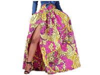 2016 New Hot Sell Summer Women Sexy Dashiki African Print Skirt African Style with Side Split Vintage Maxi Skirts Free Shippin African Inspired Fashion, African Fashion, African Style, Skirts For Sale, Mini Skirts, Maxi Skirt Style, African Print Skirt, Cruise Outfits, Vintage Skirt