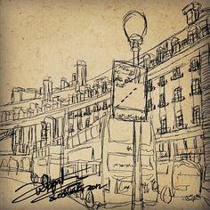 my sketch of london using galaxy mote