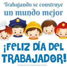 Feliz día  del trabajador! #diadeltrabajo #diadeltrabajador #frasesdiadeltrabajo #cartelito #trabajador