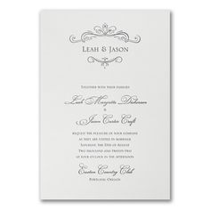 Regal Vows - Invitation. Available to order at Persnickety Invitation Studio.