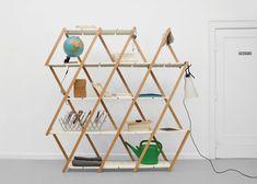Expandable shelving by Stephanie Hornig - So smart, @Dezeen magazine !
