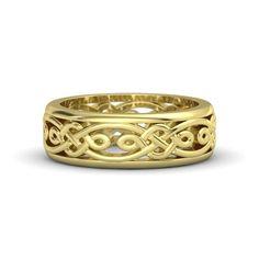 Men's 14K Yellow Gold Ring   Alhambra Band   Gemvara