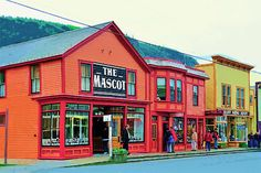 Skagway Alaska Street by Clarence Alford Skagway Alaska, Street Painting, Family Cruise, Alaska Cruise, Beautiful Places In The World, Wilderness, Travel Photos, Places Ive Been, Exploring