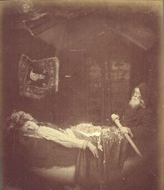 Elaine in the Barge: Julia Margaret Cameron (1875)