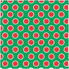 Green with red and white dots HEAT TRANSFER by BreezePrintCompany Christmas