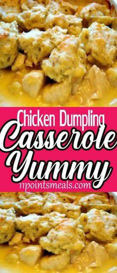 #chickendumplingscrockpot Slow Cooker Chicken Dumplings, Chicken Dumpling Casserole, Homemade Chicken And Dumplings, Dumplings For Soup, Teriyaki Chicken, Asian Crockpot Chicken, Southern Comfort, Rotisserie Chicken Uses, Shredded Chicken