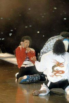 Michael, Marlon and Tito (?) Jackson