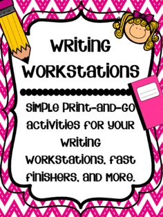 Writing Workstations: Print and Go! from It's Elementary with Ms. D!  on TeachersNotebook.com -  (48 pages)  - This packet includes simple print-and-go activities for your writing workstations, fast finishers, and more!
