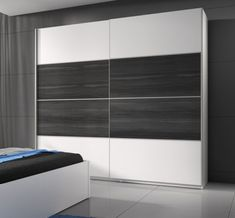 Posuvná Beta - Skriňa 221x210x61, posuvné dvere (biela / dub sivý) Blinds, Divider, Curtains, Room, Furniture, Design, Home Decor, Bedroom, Decoration Home