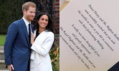 Prince Harry and Meghan Markle send thank you notes