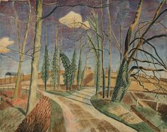 Overview of the Edward Bawden exhibition at the Dulwich Picture Gallery - until September. Landscape Art, Landscape Paintings, Landscapes, Tree Paintings, Landscape Drawings, Dulwich Picture Gallery, Royal College Of Art, Illustrators, Original Artwork