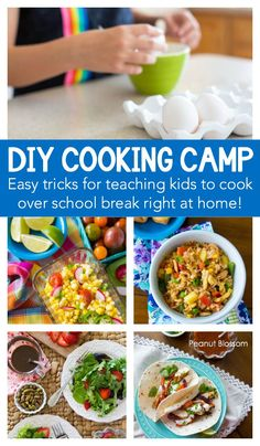 DIY Kids Cooking Camp: Easy tricks for hosting your own kids cooking classes right at home. One of the best summer activities for kids that will teach them amazing life skills in a fun format. Step by step guide for parents included! Cooking with Kids Easy Meals For Kids, Summer Activities For Kids, Kids Meals, Summer Classes For Kids, Simple Recipes For Kids, Kids Cooking Activities, Kids Fun, Cooking Classes For Kids, Cooking With Kids