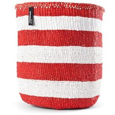 Mifuko Kiondo large stripe basket featuring polyvore home home decor small item storage colorful baskets striped basket colorful home decor