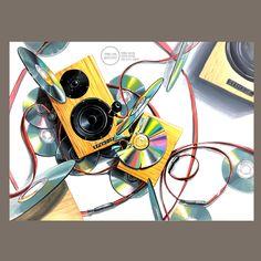 Material Library, Illustration Story, Color Pencil Art, Gel Pens, Watercolor Paper, Colored Pencils, Art Drawings, Design Inspiration, Retro