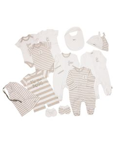 14 Pc Beige Unisex Baby Starter Pack