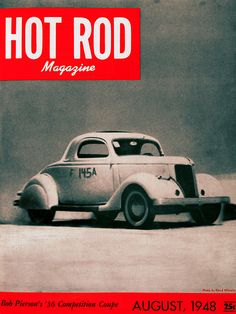 1948 Magazine Cover, first year of Hot Rod Magazine