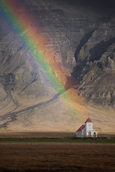 °Rainbow Chapel by softclay Love Rainbow, Over The Rainbow, Beautiful World, Beautiful Places, Beautiful Pictures, Skier, Les Religions, Photo Images, Somewhere Over