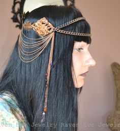 Will-o'-the-wisp Headdress Art Nouveau Mucha Tiara Crown
