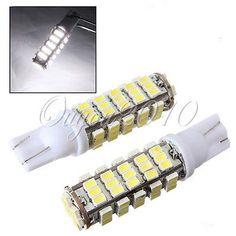 2x T10 W5w 168 194 68 3020 Led Smd Blanco Puro Cuña Turn Esquina Luz lámpara bombilla