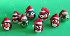 Obsessively Stitching: Angry Birds -- Ornaments!