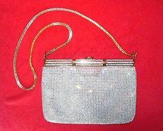 Judith Leiber Vintage Swarovski Crystal Studded Formal Shoulder Bag Clutch Purse
