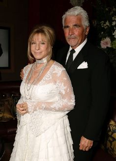 Barbra Streisand, who was previously married to Elliott Gould, found love at age 56 with actor James Brolin. Famous Couples, Couples In Love, Celebrity Couples, Celebrity Weddings, Hollywood Couples, Hollywood Stars, Barbra Streisand James Brolin, Brooklyn, Jazz