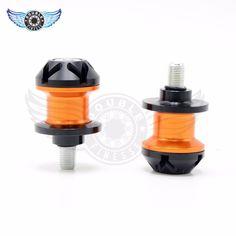2pcs 10mm Orange Motorcycle Stands Screws Swingarm Spools Sliders For KTM RC125/200/390 125/200/390 DUKE 690 950 990