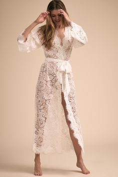 Shop our vintage-inspired bridal lingerie collection. BHLDN offers a variety of wedding lingerie perfect for your wedding night and beyond! Lingerie Dress, Bridal Lingerie, Lingerie Sleepwear, Lace Bridal Robe, Bridal Robes, Vestido Baby Doll, Ropa Interior Babydoll, Wedding Night Lingerie, Bridal Elegance