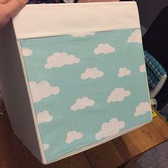Covered IKEA drona box for kallax storage unit