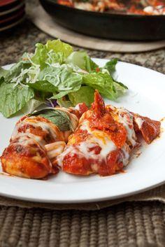Chicken with Pepperoni Marinara Sauce