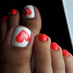 Modny Pedicure: 25 Ciekawych Inspiracji na Paznokcie u Stóp Pretty Toe Nails, Cute Toe Nails, My Nails, Toe Nail Color, Toe Nail Art, Nail Colors, Red Nail, Summer Toe Nails, Beach Nails