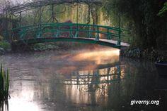 Japanese bridge in Monet's garden