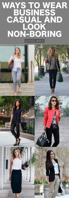 Ways to wear business casual and look non boring || Casual Work Outfits for Women || Work Outfits Ideas