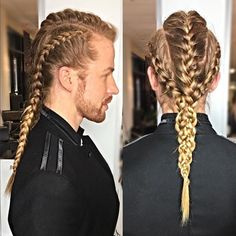 Image result for viking braids male