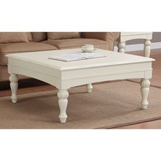 @Overstock.com - Vanilla Wasatch Square Coffee Table - Add a stylish touch to your home decor with this square coffee table. A vanilla white finish and sturdy design complete this detailed table.   http://www.overstock.com/Home-Garden/Vanilla-Wasatch-Square-Coffee-Table/6603300/product.html?CID=214117 $209.99