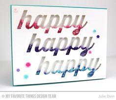 Happy Duo Die-namics - Julie Dinn  #mftstamps