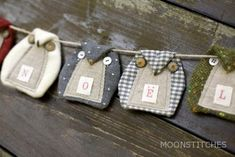 """Moonstitches - would love to do in felt with oval tummy shapes spelling """"BOO"""" or """"WHOO"""""""