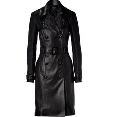 JITROIS Black Trocadero Trench Coat ❤ liked on Polyvore