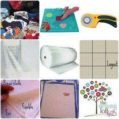 Step 1 - t-shirt quilt how to Mladineo Mladineo Lelia Fabric Crafts, Sewing Crafts, Sewing Projects, Quilting Tutorials, Quilting Ideas, Girls Quilts, Easy Quilts, Quilt Patterns, Tee Shirts