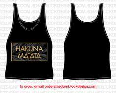 Delta Delta Delta Hakuna Matata Boxy Tank by Adam Block Design | Custom Greek Apparel & Sorority Clothes