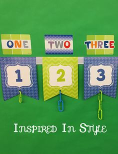 Take your number line to a new level. Create a number line for students to match numeral, number word, and a physical model.