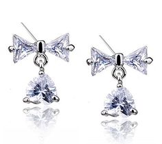 Luxury Little Tassels Stud Earrings Bling Rhinestones Women Earings * Check this awesome product by going to the link at the image. Note:It is Affiliate Link to Amazon.