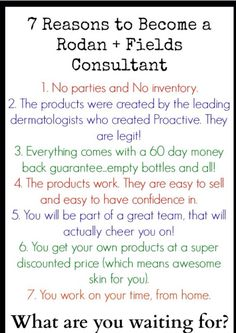 Are you considering a new gig doing some kind of direct sales? Are you looking for a way to make a little extra income (or a lot) doing something flexible from home? Do you want great skin, and do you love products that actually work? Contact me! Rodan + Fields may be just what you are looking for!
